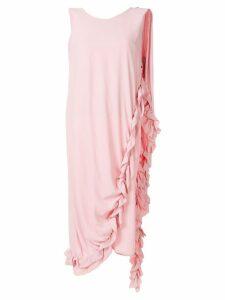 Marni asymmetric draped ruffled dress - Pink