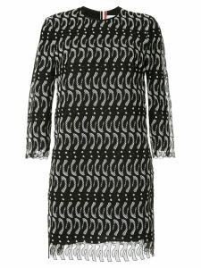 Thom Browne penguin lace dress - Black
