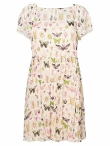 Red Valentino bug print sundress - Neutrals