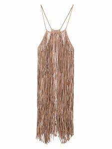Caravana Bulkabal fringed dress - Neutrals