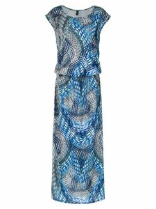 Lygia & Nanny Vinales printed maxi dress - Blue