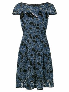 Talbot Runhof floral flared dress - Black