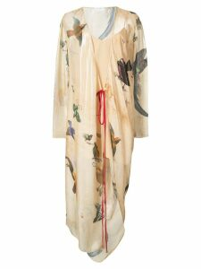 Vionnet printed wrap dress - Neutrals