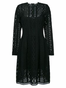 Ermanno Scervino long sleeved sheer dress - Black