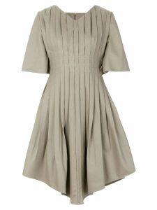 Vejas pleated v-neck dress - Grey
