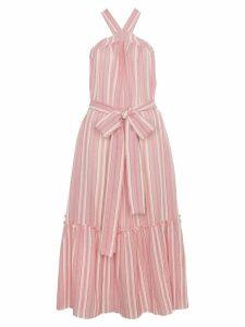 Three Graces Cotton Maxi Striped Dress - Pink