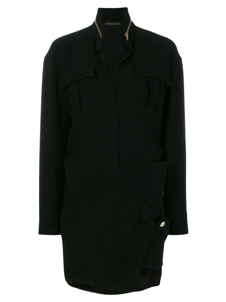 Alexandre Vauthier slim cargo dress - Black
