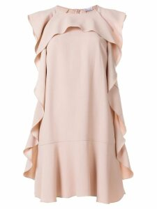 Red Valentino ruffle embellished dress - Neutrals