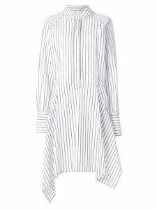 JW Anderson striped asymmetric shirt dress - White