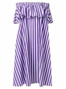 Maison Rabih Kayrouz off-shoulder striped dress - PURPLE