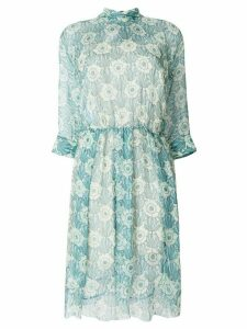 Prada chiffon printed dress - Green