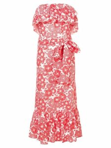 Lisa Marie Fernandez Sabine ruffle eyelet dress - Red