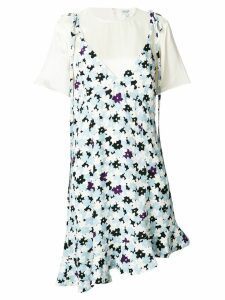 Kenzo layered floral print dress - Blue