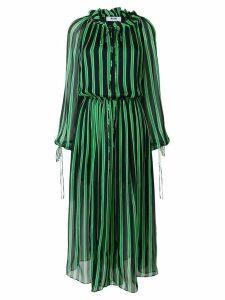 MSGM billowing striped dress - Green