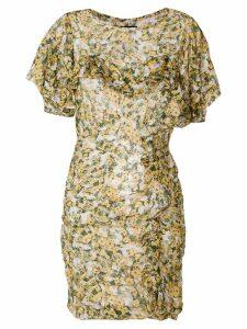 Isabel Marant Face floral print dress - Yellow
