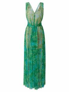 MSGM V-neck palm tree dress - Green
