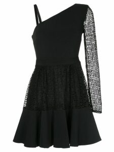 David Koma asymmetric flared dress - Black