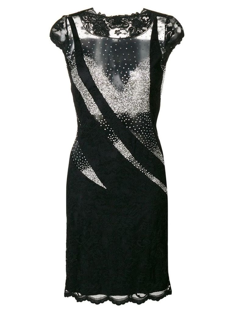 Olvi´S sheer panels dress - Black