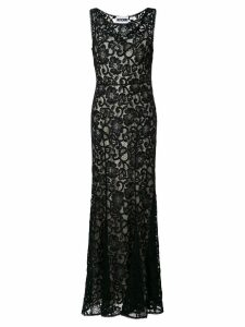 Moschino lace overlay dress - Black