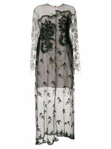 Stella McCartney embellished sheer lace dress - Black