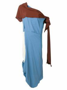 Marni asymmetric toga style dress - Blue