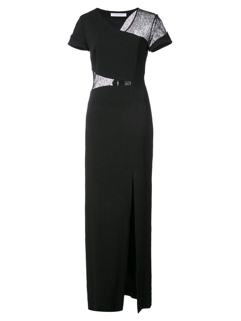 Kimora Lee Simmons lace wrap around gown - Black
