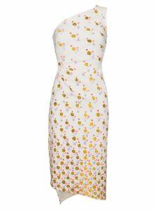 Peter Pilotto one shoulder floral print dress - White