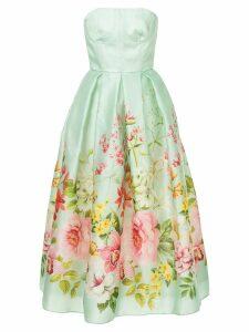Bambah lotus sweetheart dress - Green
