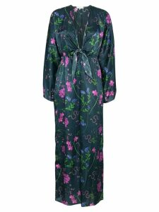 Borgo De Nor Elsa split sleeves kimono dress - Blue