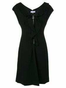 Carven ruffle zip dress - Black