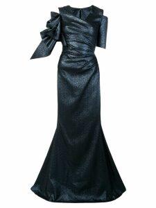 Talbot Runhof Pouf2 dress - Blue