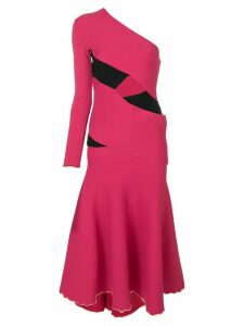 Proenza Schouler asymmetric flared midi dress - Pink