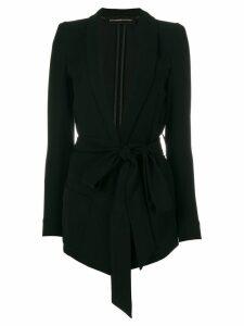 Alexandre Vauthier belted waist blazer - Black