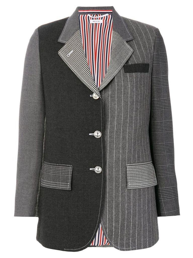Thom Browne classic patchwork blazer - Grey
