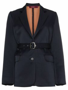 Sies Marjan Wool Blend Belted Blazer - Blue