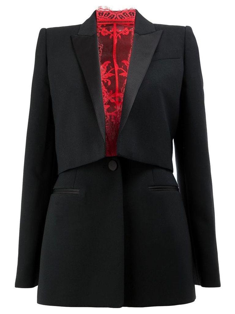 Alexander McQueen tailored tuxedo blazer - Black