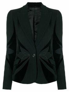 Elie Saab floral blazer - Black