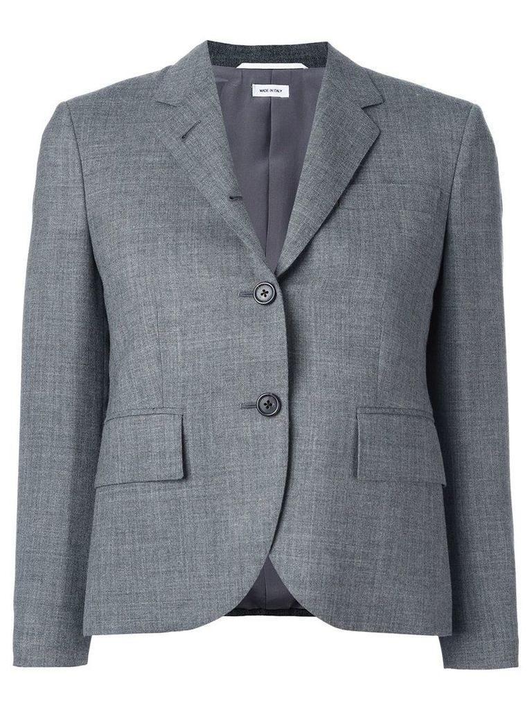 Thom Browne Classic Single Breasted Sport Coat In Medium Grey 2-Ply