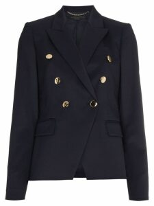 Stella McCartney Double Breasted Wool Blazer - Blue