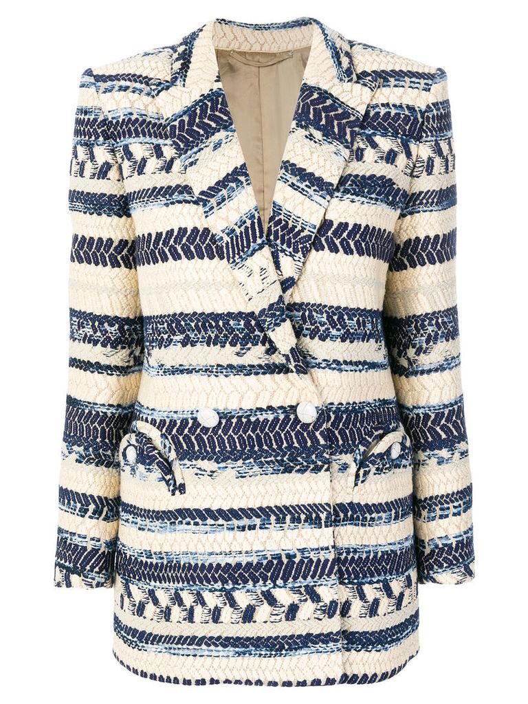 Blazé Milano double-breasted jacquard blazer - Blue