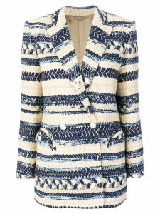 Blazé Milano double-breasted jacquard blazer - Blue