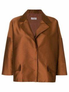 Alberto Biani boxy fit blazer - Brown