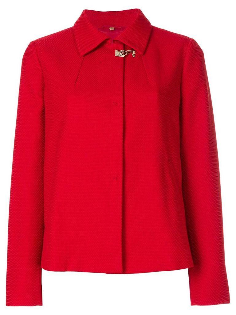 Fay rear pleat short jacket - Red