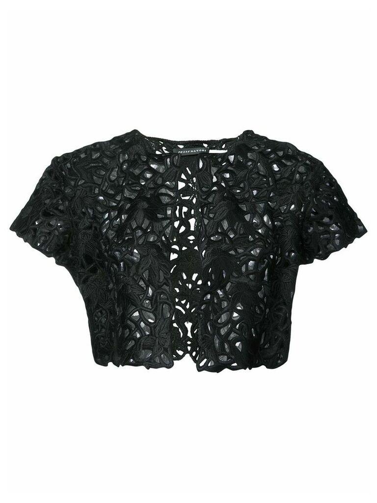 Josie Natori lace detail bolero - Black