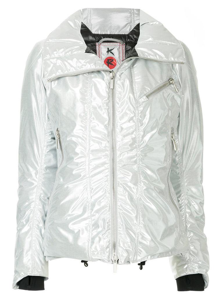 Kru metallic padded down jacket - Multicolour