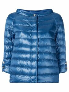 Herno cropped padded jacket - Blue