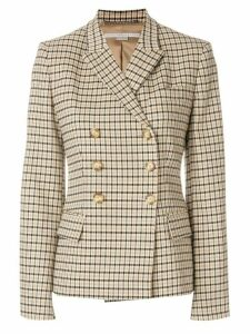 Stella McCartney checked double-breasted jacket - Multicolour