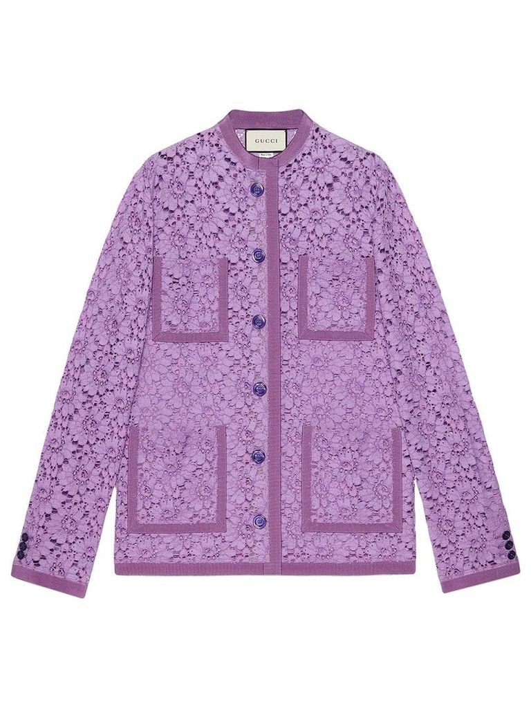 Gucci Flower lace jacket - Purple