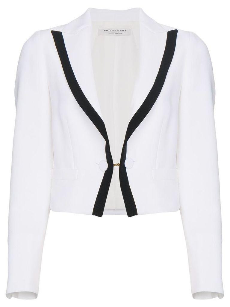 Philosophy Di Lorenzo Serafini cropped tux jacket - White