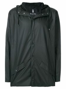 Rains snap fastening raincoat - Black